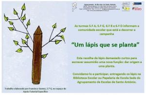 """""""Um lápis que se planta."""""""